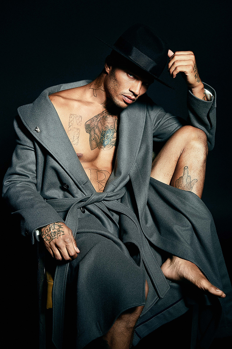 Jeremy Meeks by Ashley Sky Walker for MMSCENE Cover 2017